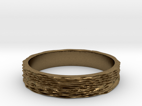Wave of Energy Ring Size 7 in Natural Bronze