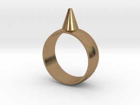 223-Designs Bullet Button Ring Size 7.5 in Natural Brass