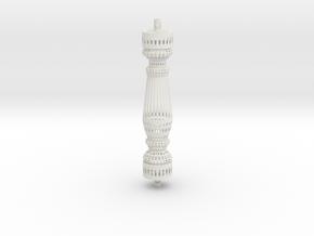 Baluster Wire Round in White Natural Versatile Plastic