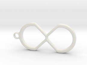 Creative-X Infinite Possiblities Keychain  in White Strong & Flexible