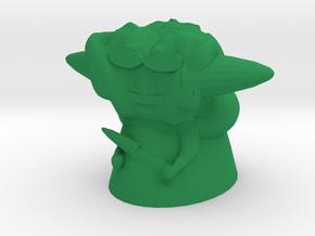 Cool Yoda in Green Processed Versatile Plastic