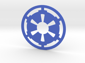 MK4 Volkswagen Golf Galactic Empire Rear Emblem in Blue Processed Versatile Plastic