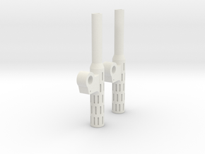 MP-01 Long Smoke Stacks in White Natural Versatile Plastic