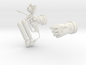 Gemini Astronaut EVA / 1:6 / Gloves, HHMMU in White Strong & Flexible