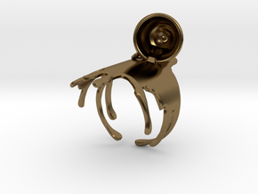 Spilled-Tea Ring Size 6 in Polished Bronze