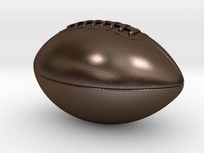 Packers Hof Mockup American Football in Polished Bronze Steel