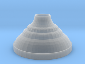 Candle Holder .7mm Bottom in Smooth Fine Detail Plastic