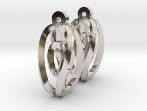 Miniature Aerial Earrings in Platinum