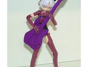 1/12 Toy Guitar in Purple Processed Versatile Plastic