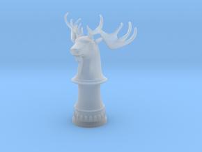 Wild Elk Knight (Round Base) in Smooth Fine Detail Plastic