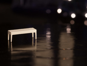 1:48 Bench in White Natural Versatile Plastic