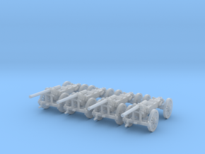1/220 de Bange cannon 155mm - transported x4  in Smooth Fine Detail Plastic