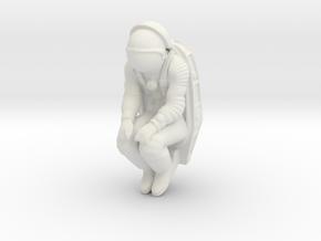 Soyuz Cosmonaut & Seat in White Natural Versatile Plastic: 1:45
