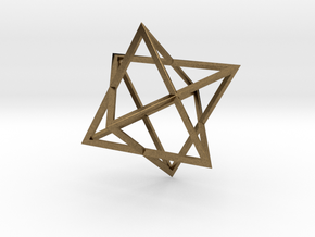 Merkaba Wire - 4cm in Natural Bronze