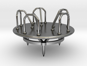 Children's Merry-go-Round, HO Scale (1:87) in Polished Silver