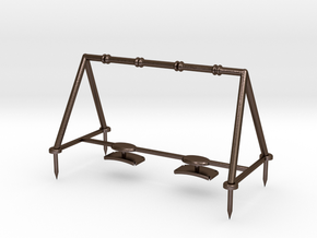 Children's Swings, HO Scale (1:87) in Polished Bronze Steel