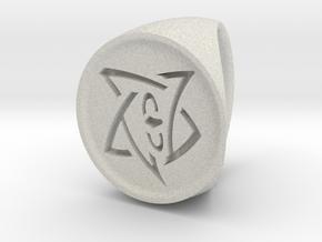 Elder Sign Signet Ring Size 7 in Full Color Sandstone