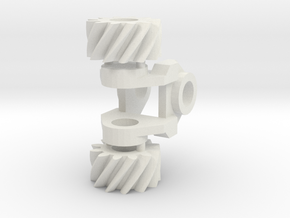 Helical Gear Box in White Natural Versatile Plastic