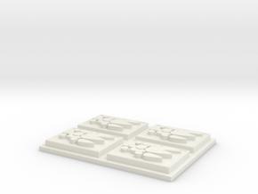 Logo Fillet in White Natural Versatile Plastic