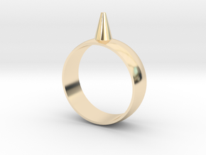 11.5 223-Designs Bullet Button Ring Size  in 14K Yellow Gold