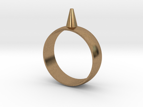 223-Designs Bullet Button Ring Size 12.5 in Natural Brass