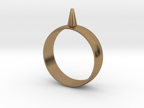 223-Designs Bullet Button Ring Size 15.5 in Natural Brass
