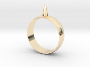 223-Designs Bullet Button Ring Size 15.5 in 14K Yellow Gold