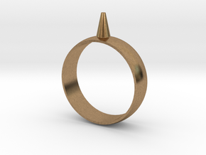 223-Designs Bullet Button Ring Size 15 in Natural Brass