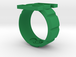 Sz 12 Honor Gaurd with new band. in Green Processed Versatile Plastic