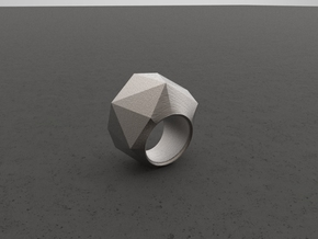 """ROCK""_Women ring in Polished Bronzed Silver Steel"