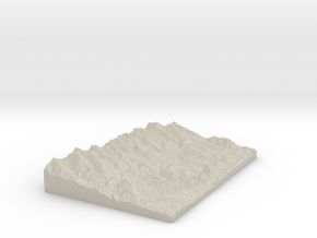Model of Duling Park in Sandstone