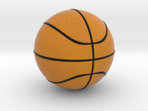 Basketball in Full Color Sandstone