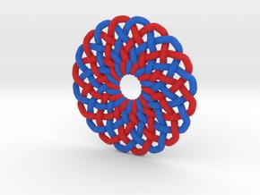 Circle Knot Pendant - 2 colour strand in Full Color Sandstone