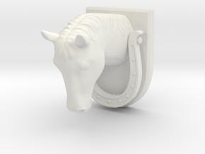 Horse Door Knocker in White Natural Versatile Plastic