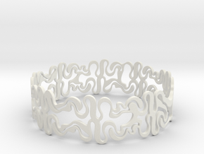 Swiggle Ring in White Natural Versatile Plastic