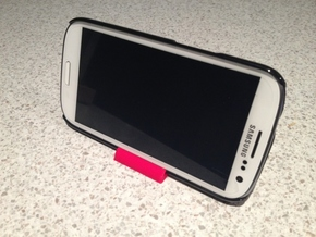 Samsung Galaxy SIII Phone Stand - Cover Edition in White Processed Versatile Plastic
