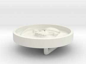 Dreadnok Belt Buckle 01 in White Natural Versatile Plastic