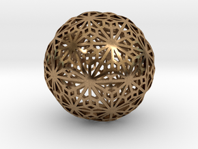 Flexible Sphere_d1 in Natural Brass