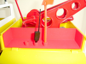 Large Tool Box Container - Playbig in Red Processed Versatile Plastic