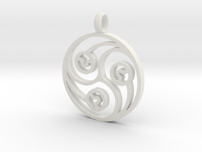 Trinity Pendant in White Strong & Flexible
