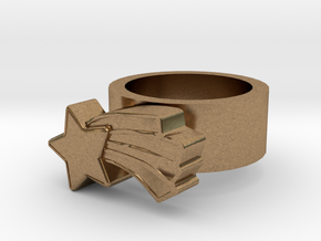123d Design Ring in Natural Brass