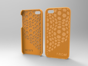 Iphone5 Case 2_2 in Orange Strong & Flexible Polished