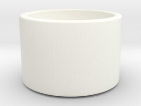 Minimal Tea Light Candle Holder in White Processed Versatile Plastic