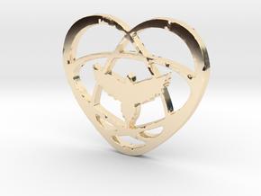 Atom Star Heart Bird in 14K Yellow Gold