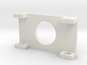 "20x4 LCD Mounting Bracket 1.5"" in White Natural Versatile Plastic"