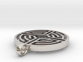 Labyrinth Pendant in Platinum