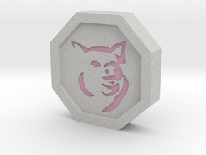 Pig Talisman in Full Color Sandstone