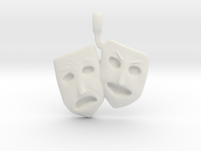 Theatre Faces Pendant in White Strong & Flexible