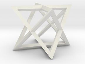 Star Tetrahedron in White Natural Versatile Plastic