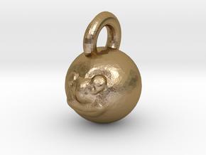 moon / sun pendant in Polished Gold Steel